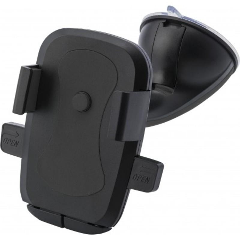 Plastic adjustable mobile phone holder for in a car