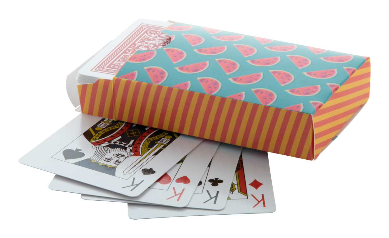 Holdem playing cards in custom box