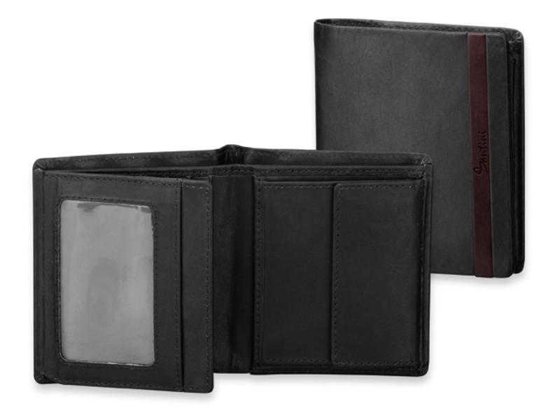 GRIMALDO men's wallet with credit card protection, SANTINI, Black