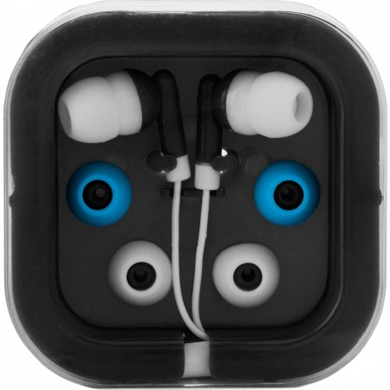 Earphones with two spare sets of buds