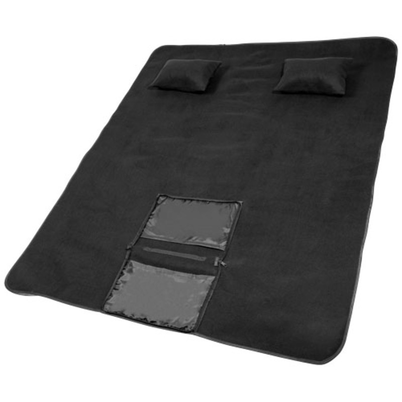 Chill outdoor blanket with 2 inflatable pillows