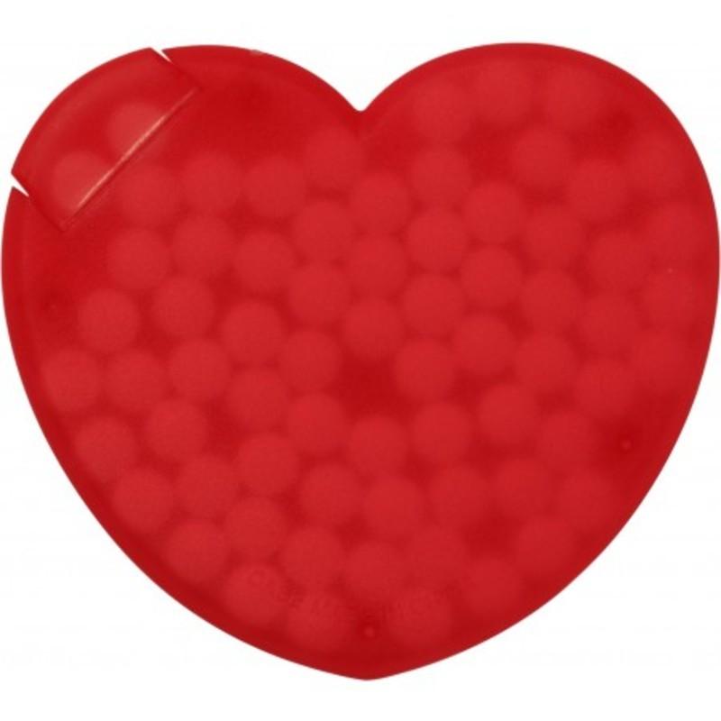 Heart shaped plastic mint card