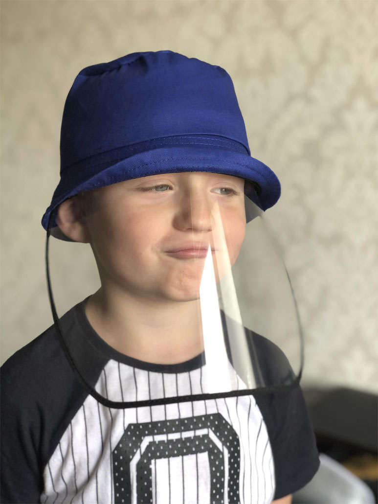 KIDS hat with a helmet