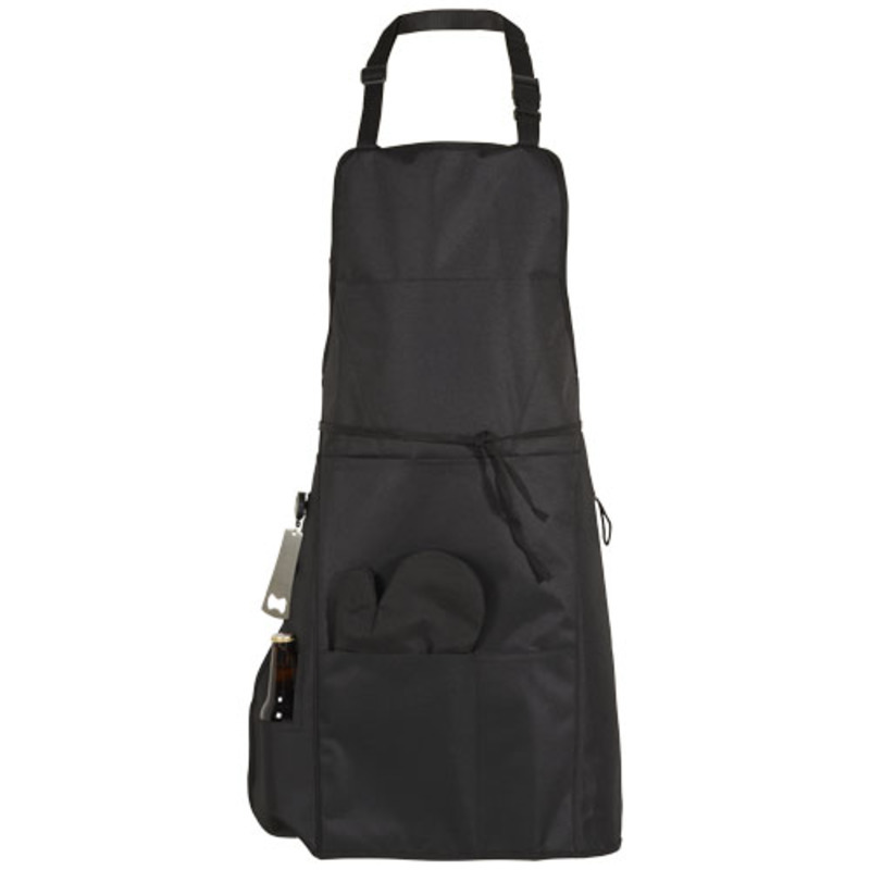 Grill BBQ apron with insulated pocket