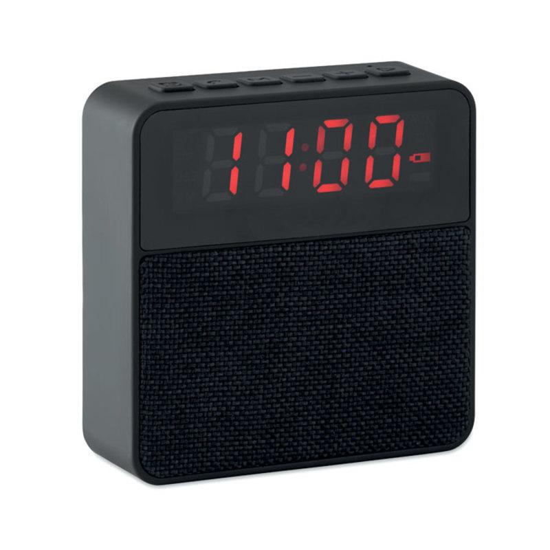 Fabric clock-alarm speaker