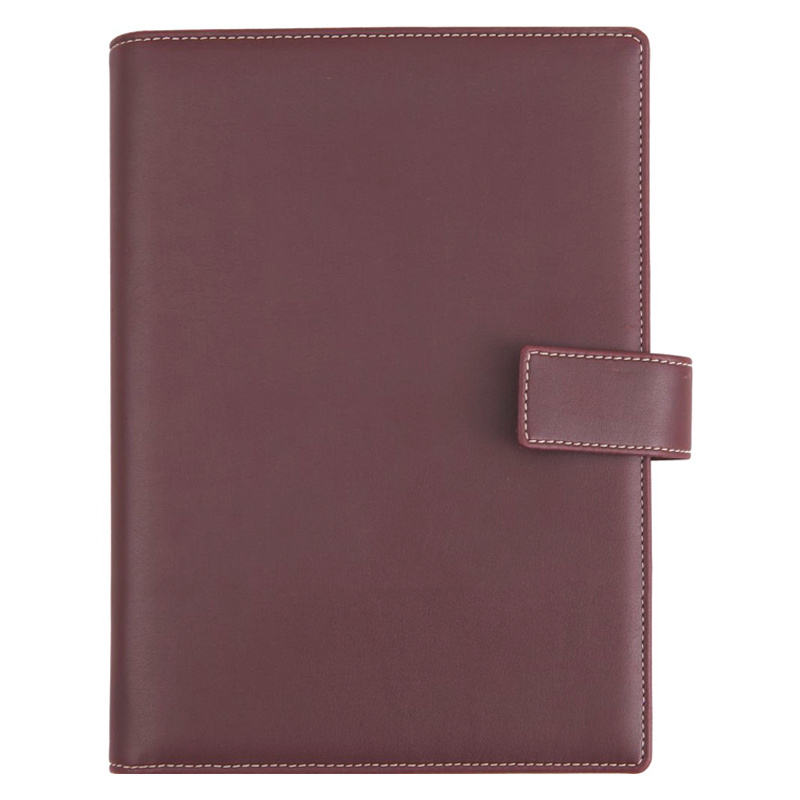 NGD689-01 - Agenda de lux FREEPORT BORDEAUX, 15×21 cm - bordo