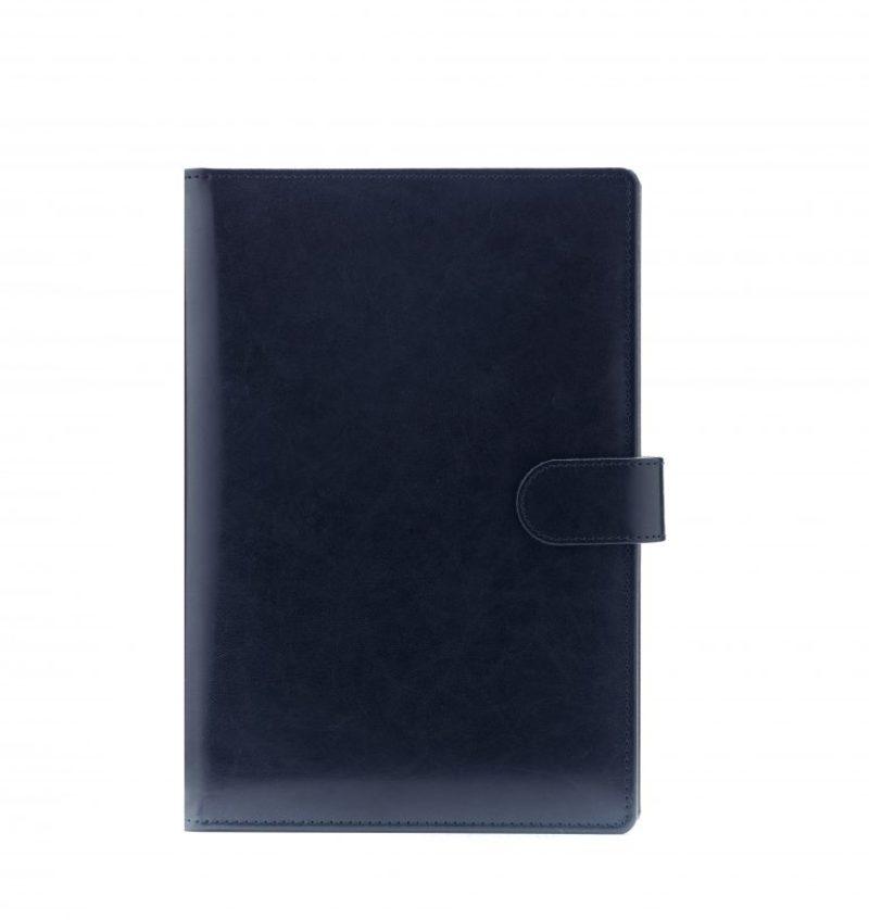 Agenda din piele TEXAS, 15x21cm - albastra