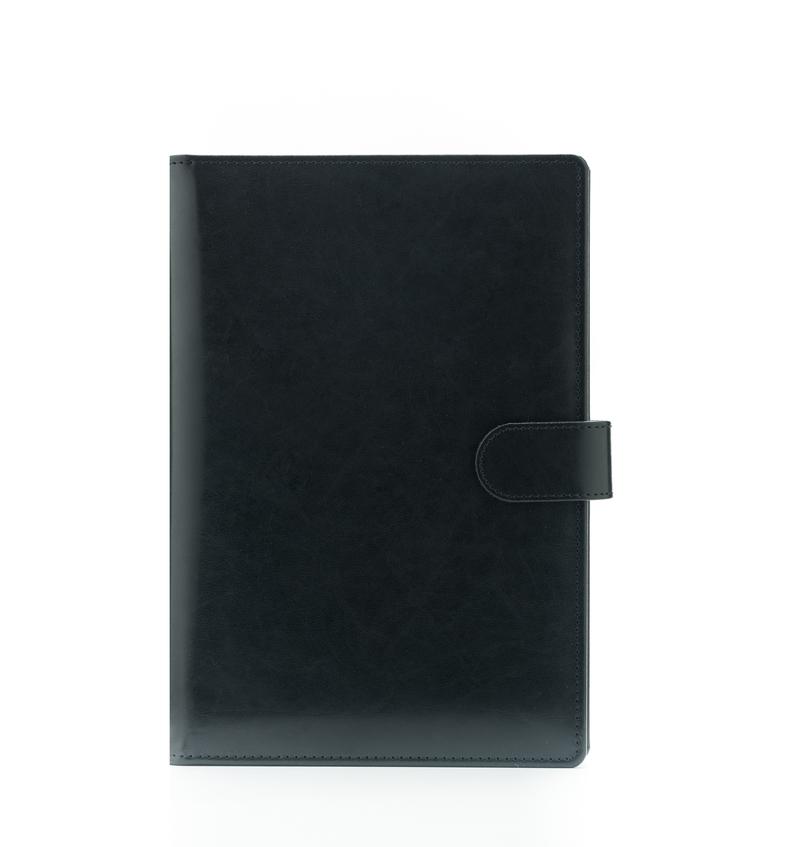 Agenda din piele TEXAS, 15x21cm - neagra