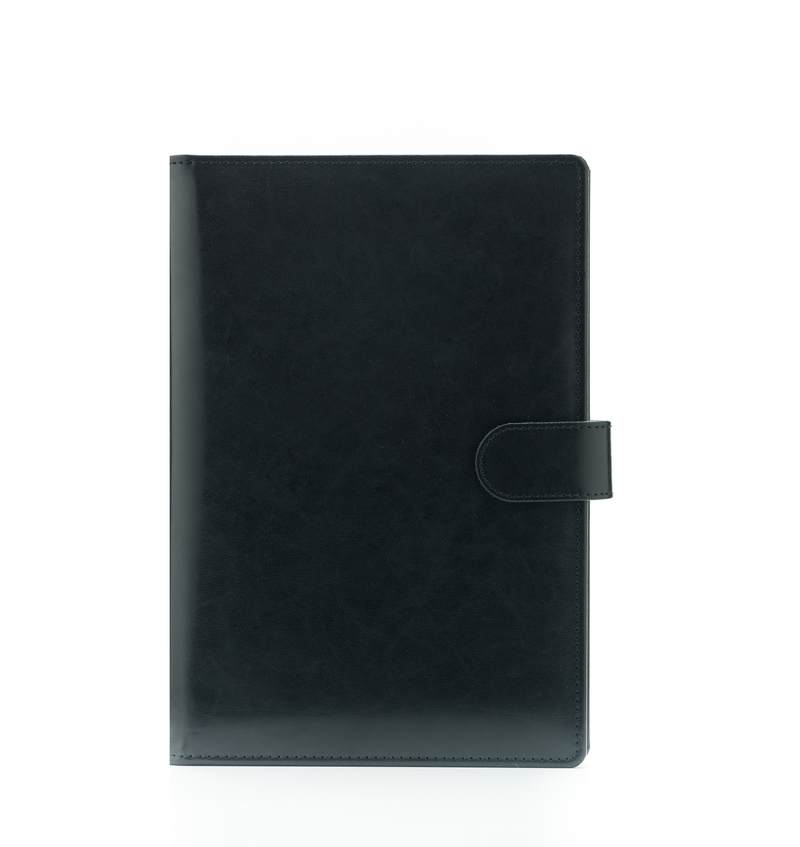 Agenda din piele TEXAS, 17×24 cm - neagra