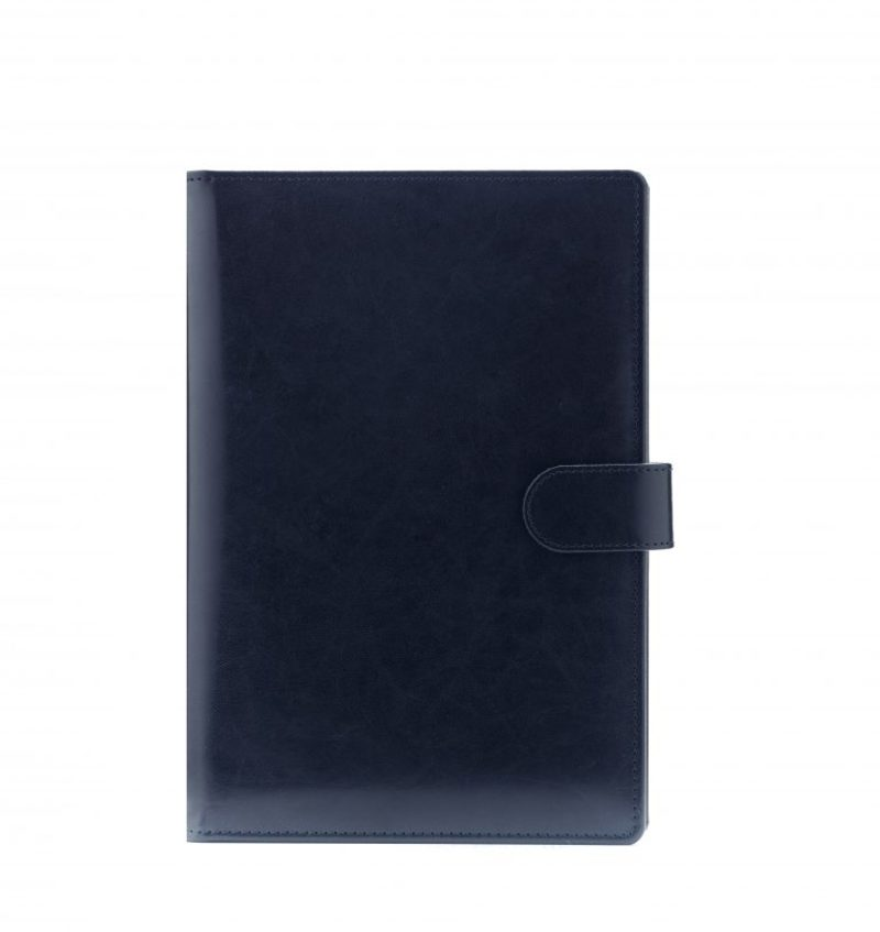 Agenda din piele TEXAS, 17×24 cm - albastra