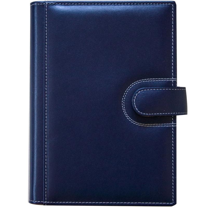 CAG1883 - Agenda din piele ELBA 15x21cm - albastra