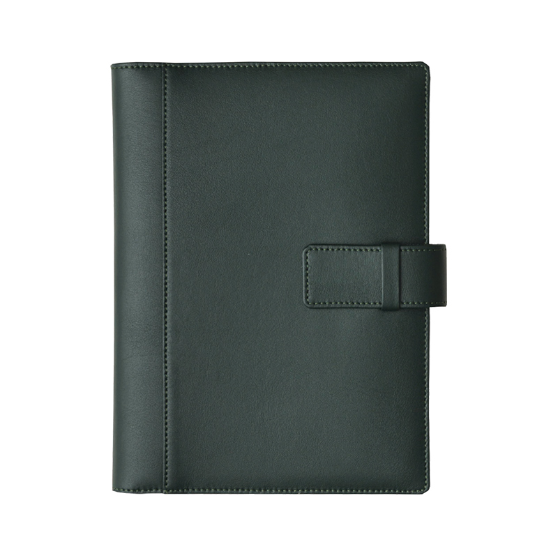 Agenda din piele Silk Verde inchis, 15 x 21 cm