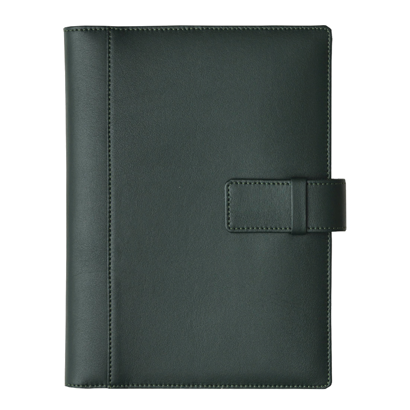 Agenda din piele Silk Verde inchis, 17 x 24 cm