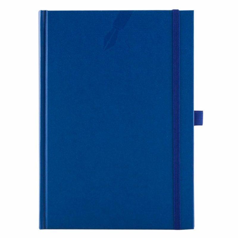 Agenda cu elastic si penloop, 459 MATRA BLU, nedatata 15×21 cm
