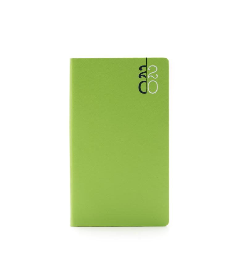 Agenda 480 PAROS, saptamanala 8×15 - verde acid