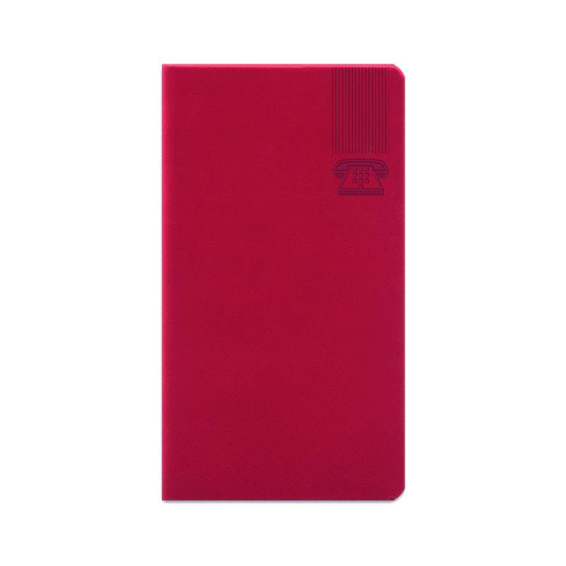 Agenda 347 Bristol Rosso Corallo, telefonica 7 x 13.6 cm