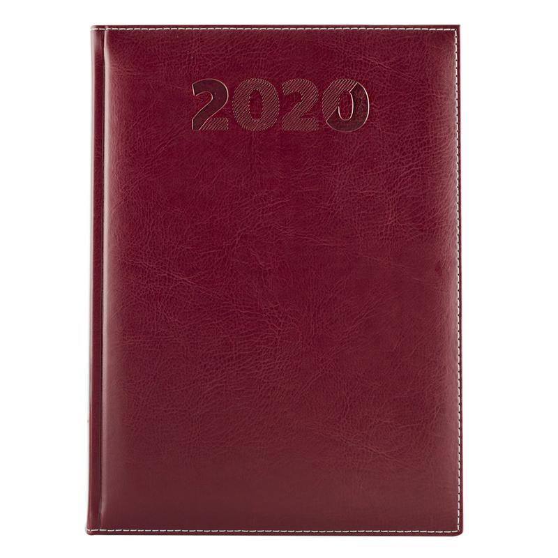 Agenda 460 SHERWOOD, zilnica 15X21 - rubiniu (amaranto)