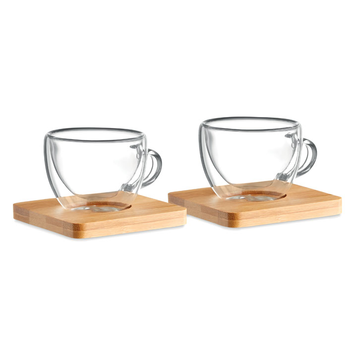 Set of 2 double wall espresso