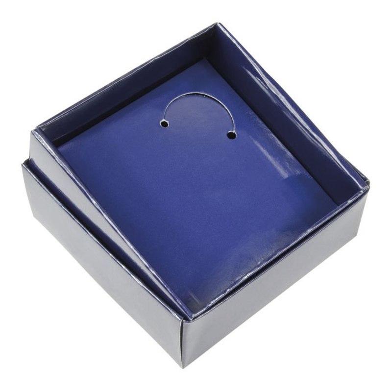 CARDBOARD BOX BLUE - 90X90X35 MM