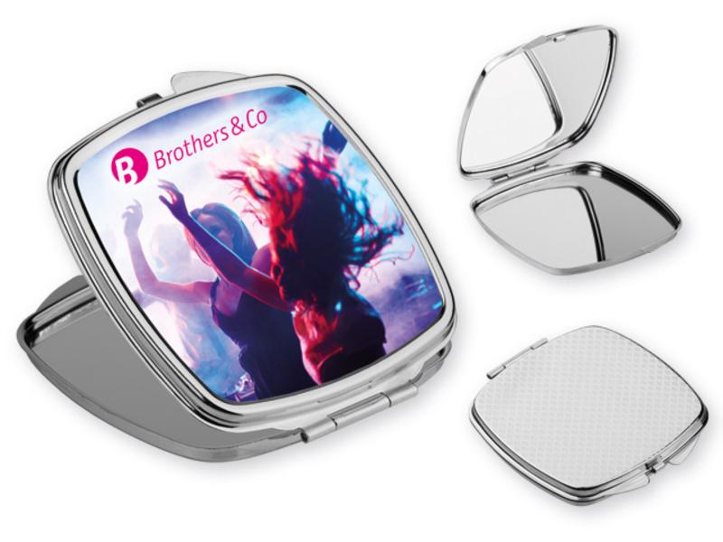 SHIMMER metal pocket mirror, Silver