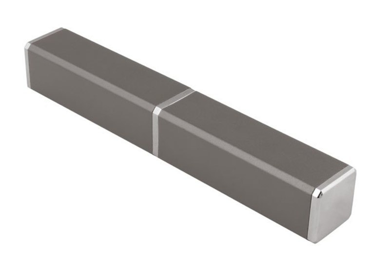 ALUMINIUM BOX  SQUARED GREY - NO PEN