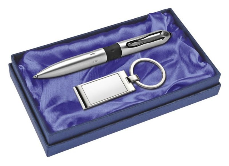 CARDBOARD BOX BLUE - SATIN BLUE - EMPTY