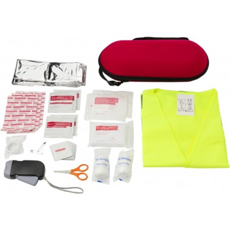 Car emergency first aid kit.
