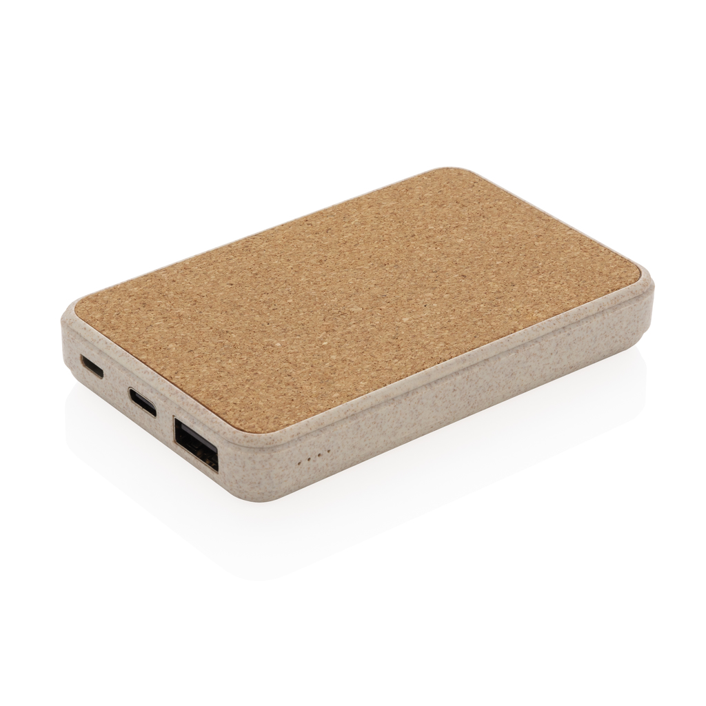 Cork and Wheat 5.000 mAh pocket powerbank
