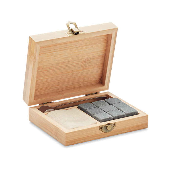 Whisky set in bamboo box