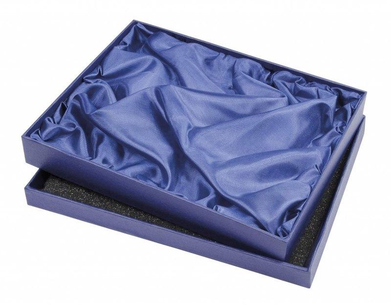 CARDBOARD BOX BLUE - 240X290X30 MM