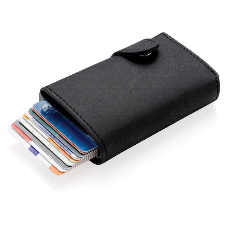 Standard aluminium RFID cardholder with PU wallet