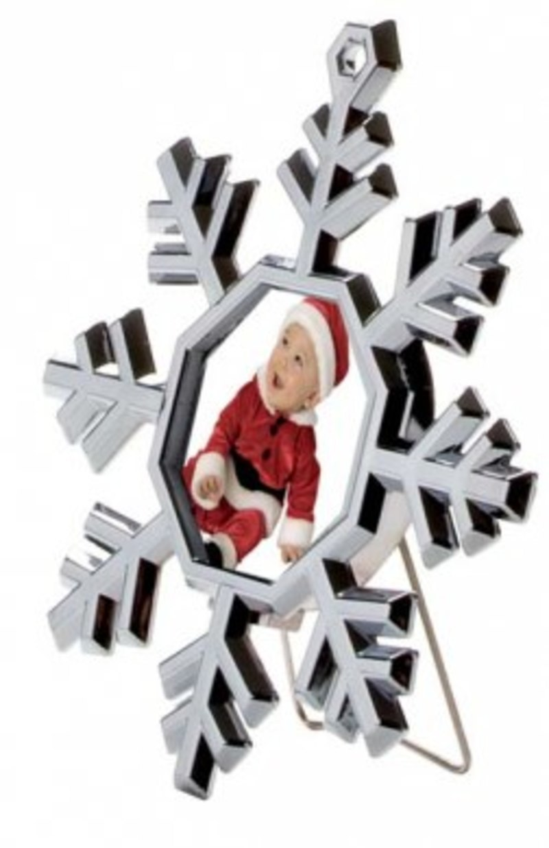 MINI PHOTOFRAME SNOWFLAKE - 85x95 mm