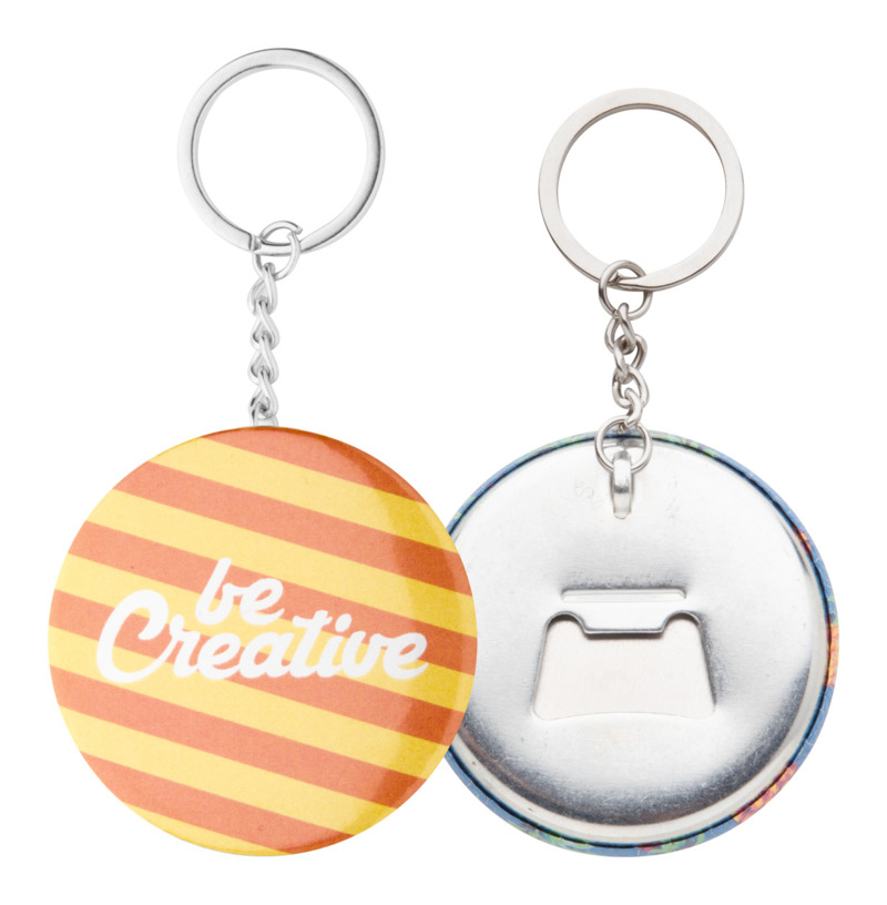 KeyBadge Bottle pin button keyring