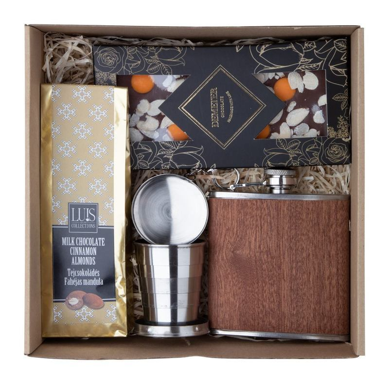 Adventurer Chocolate and spirit gift set