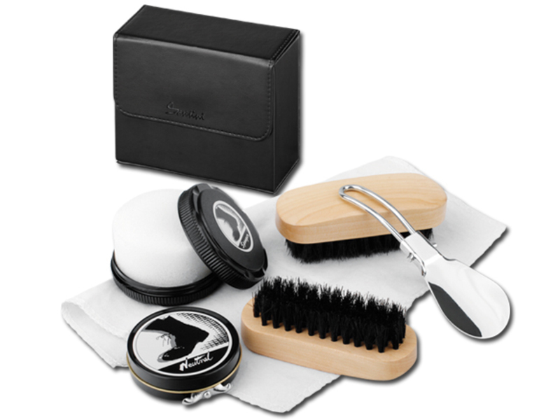 MARILOU shoe cleaning kit 6 in 1, SANTINI, Black