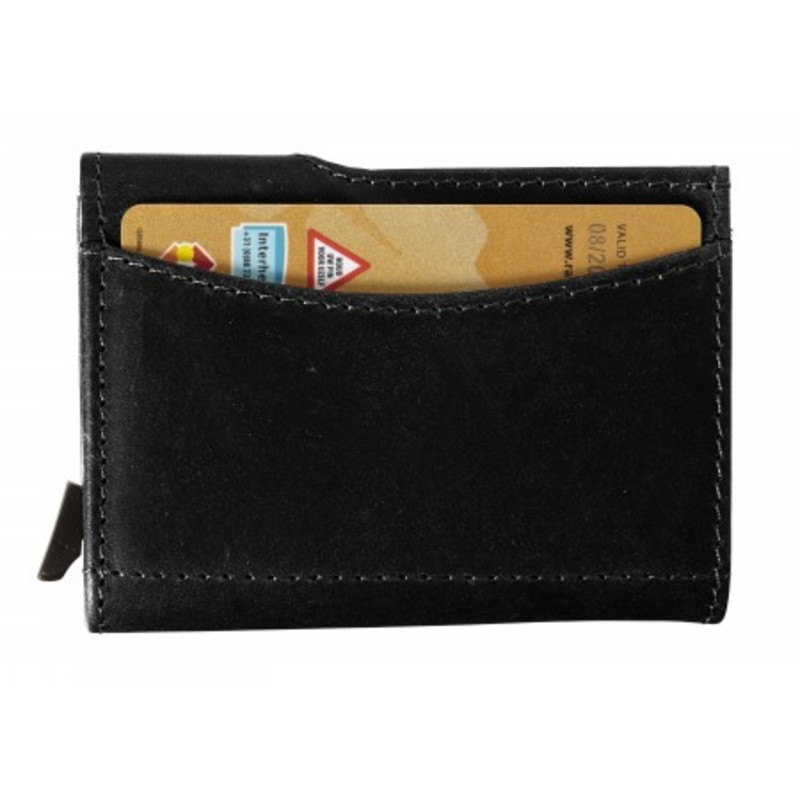 Leather wallet with RFID card holder