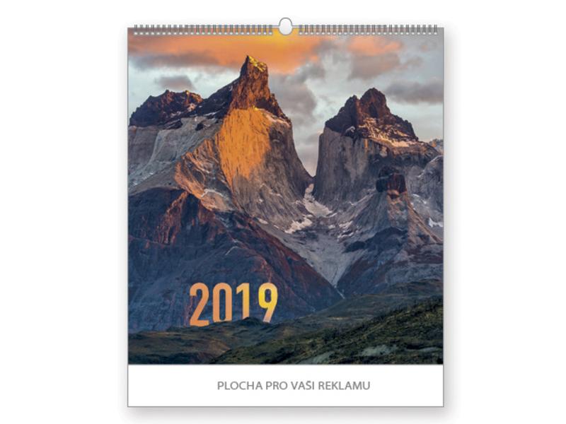 MOUNTAINS wall calendar, 45x48cm