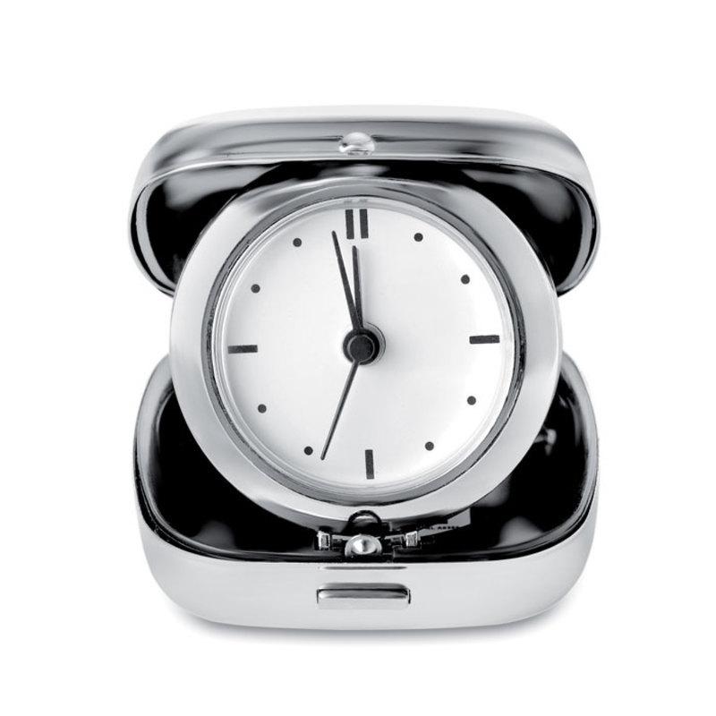 Metal travel alarm clock