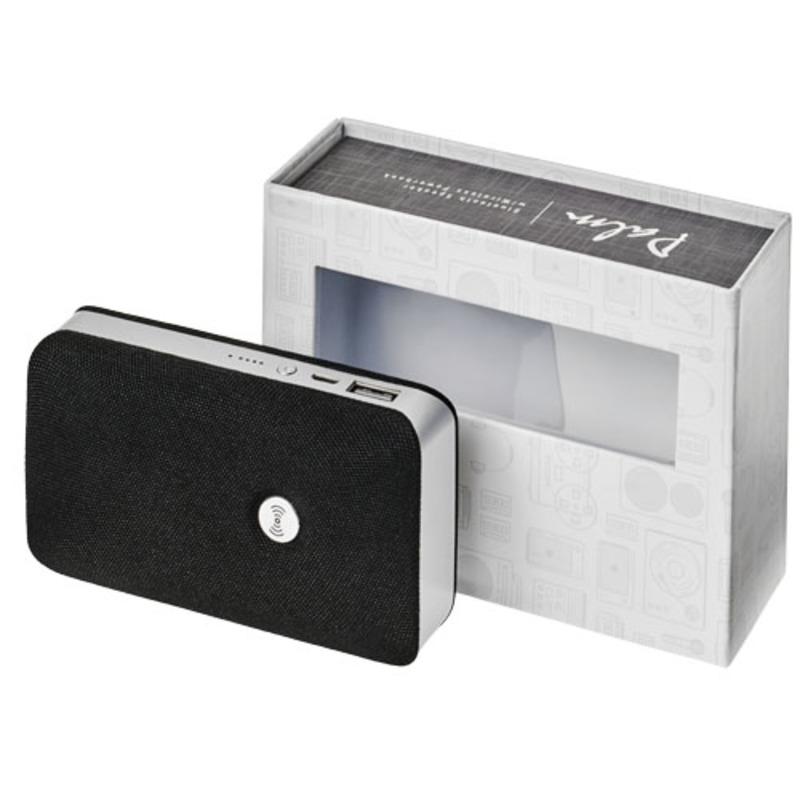 Palm Bluetooth® speaker with wireless power bank