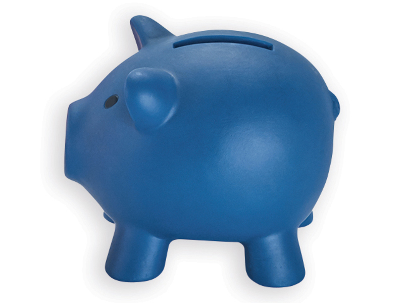 SKUDLIK plastic cash box, Blue