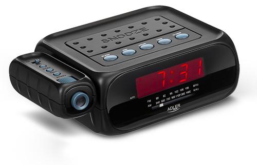 Alarmclock radio with projector