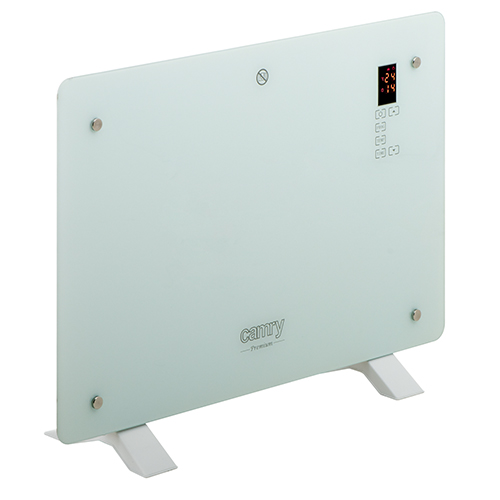 Convection glass heater LCD with remote control
