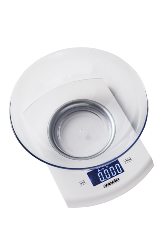 Kitchen scale with a bowl