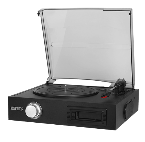 Turntable with cassette player