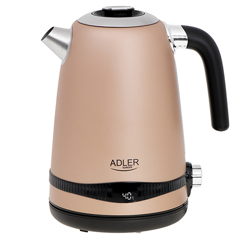 SS champion gold kettle 1,7L with LCD display & temperature regulation
