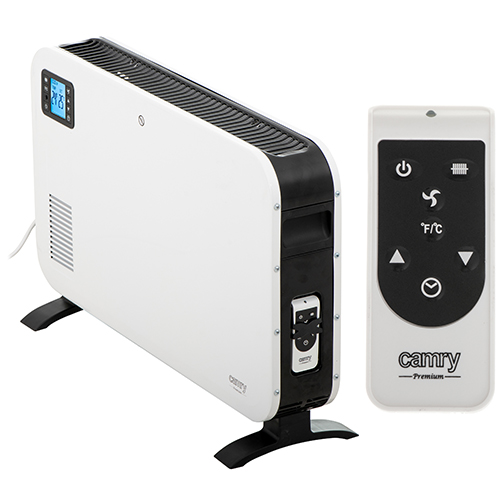 Convection heater LCD with remote control