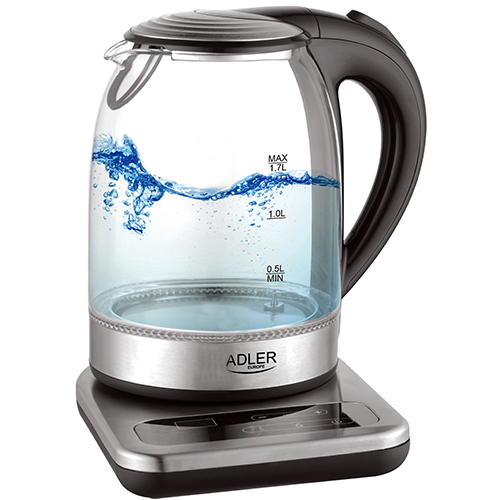 Kettle glass with base 1,7 L - temp. control