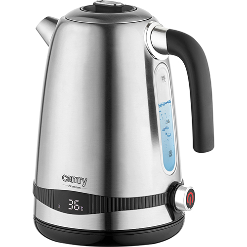 Stainless Steel 1,7L kettle with LCD display & temp. regulation
