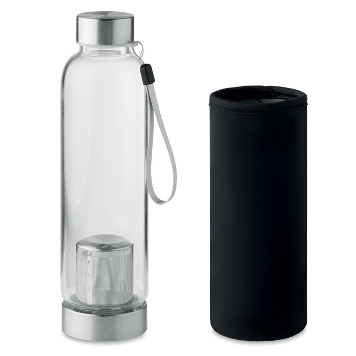 Single wall glass bottle