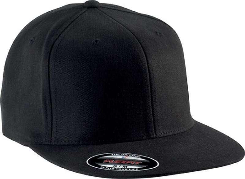 FLEXFIT® BRUSHED COTTON CAP WITH FLAT PEAK - 6 PANELS